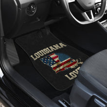 Load image into Gallery viewer, Louisiana/Love/American Flag/Car/Truck/SUV/Auto/Floors Mats (2-front floor mats per order)