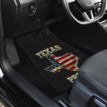 Load image into Gallery viewer, Texas/Pride/Floor Mats/American Flag/Car/Truck/SUV/Auto/RV (2-front floor mats per order)