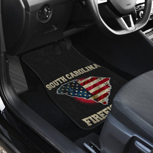 South Carolina/Firefighter/American Flag/Car/Truck/SUV/Auto/RV/Floor Mats (2-front floor mats per order)