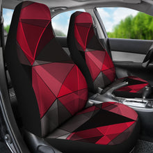 Load image into Gallery viewer, Polygonal/Black/Red/Car Seat Covers/Auto Seat Covers/SUV Seat Covers/Truck Seat Covers (Set of 2)