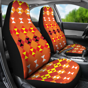 Southwest/Navajo/Native American/Orange/Micro Fiber/Auto/Car/Seat (2 seat covers per set)