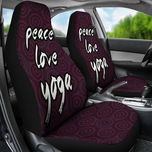 Peace Love Yoga /Brandywine/Car Seat Covers Auto Seat Covers/ SUV Seat Covers/ Truck Seat Covers (Set of 2)