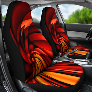 Lava Vortex/Red/Orange/Car Seat Covers/Auto Seat Covers/SUV Seat Covers/Truck Seat Covers (Set of 2)