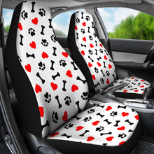 Load image into Gallery viewer, Love Dog Paw Seat Covers small print