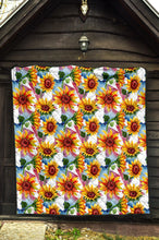 Load image into Gallery viewer, Sunflowers/Sunflower/Watercolor 27/Quilt/Quilts/Bedspread