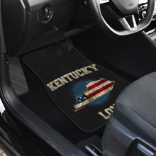 Load image into Gallery viewer, Kentucky/Love/American Flag/Car/Truck/SUV/Auto/RV/Floor Mats (2-front floor mats per order)