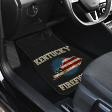 Load image into Gallery viewer, Kentucky/Firefighter/American Flag/Car/Truck/SUV/Auto/RV/Floor Mats (2-front floor mats per order)