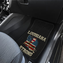 Load image into Gallery viewer, Louisiana/Strong/American Flag/Car/Truck/SUV/Auto/RV/Floors Mats (2-front floor mats per order)