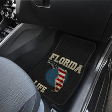 Load image into Gallery viewer, Florida/Life/American Flag/Car/Truck/SUV/Auto/RV/Floor Mats (2-front floor mats per order)