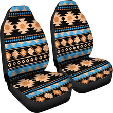 Load image into Gallery viewer, Southwest/Navajo/Native American/Blue/Brown/Micro Fiber/Auto/Car/Seat (2 seat covers per set)