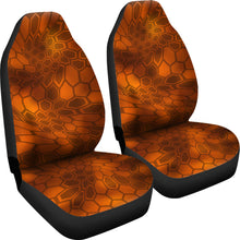 Load image into Gallery viewer, Kryptic Inferno Orange/Camo/Serpent/Car Seat Covers Auto Seat Covers/ SUV Seat Covers/ Truck Seat Covers (Set of 2)