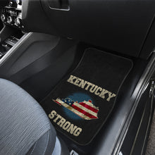 Load image into Gallery viewer, Kentucky/Strong/American Flag/Car/Truck/SUV/Auto/RV/Floor Mats (2-front floor mats per order)