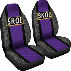 Skol Minnesota Theme Car Seat Covers