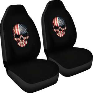 Skulls/American Flag Design/American Flag/Flag/Auto Seat Covers/SUV Seat Covers/Truck Seat Covers (2 seat covers per order)