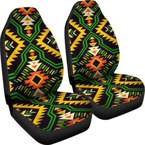 Southwest/Navajo/Native American/Green/Yellow/Micro Fiber/Auto/Car/Seat (2 seat covers per set)