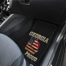 Load image into Gallery viewer, Georgia/Proud/American Flag/Car/Truck/SUV/Auto/RV/Floor Mats (2-front floor mats per order)