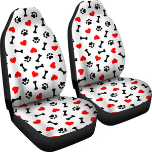 Love Dog Paw Seat Covers small print