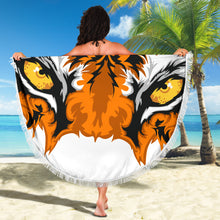 Load image into Gallery viewer, Tiger Eyes/Round/Beach Blanket/Table Cloth/Shawl