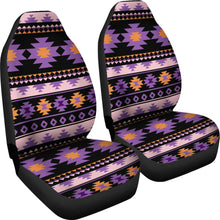 Load image into Gallery viewer, Southwest/Navajo/Native American/Purple/Black/Micro Fiber/Auto/Car/Seat Covers (2 seat covers per set)