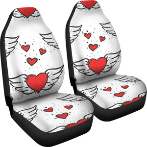 Winged Hearts/Hearts/Red Hearts/Car Seat Covers