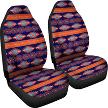 Load image into Gallery viewer, Southwest/Navajo/Native American/Blue/Orange/Micro Fiber/Auto/Car/Seat (2 seat covers per set)