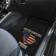 Load image into Gallery viewer, South Carolina/Pride/American Flag/Car/Truck/SUV/Auto/RV/Floor Mats (2-front floor mats per order)