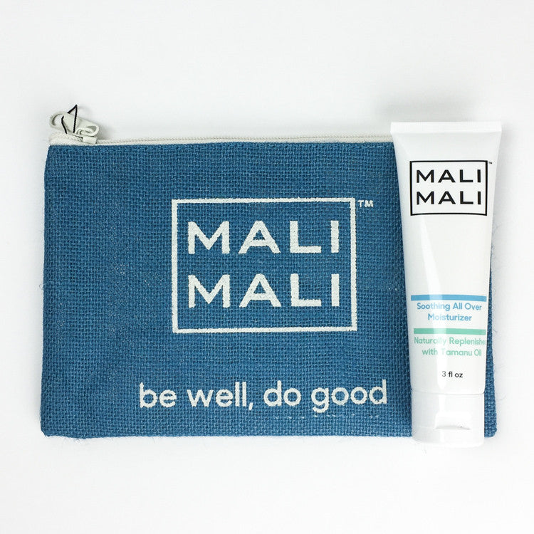 Mali Mali Soothing All-Over Moisturizer and Pouch Set - Blue