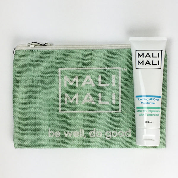 Mali Mali Soothing All-Over Moisturizer and Pouch Set - Green
