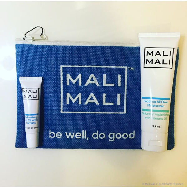 The amazing Mali Mali Deluxe Set with moisturizer and lip oil