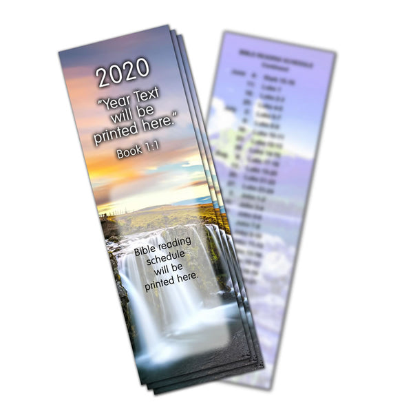2020 Bible Reading Bookmarks - Pack of 10