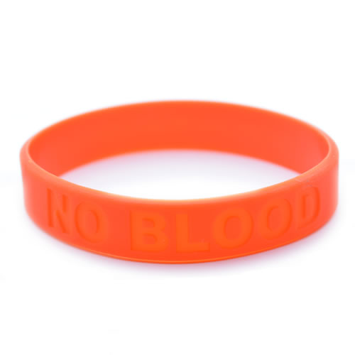 No Blood Silicone Wristband - Pack of 2
