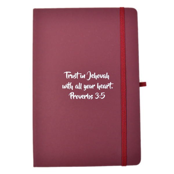 A5 Soft Feel Notebook Proverbs 3:5