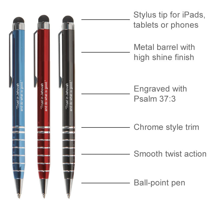 Metal Stylus Pen with Psalm 37:3