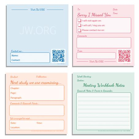 Sticky Notes Set - Ministry and Study - Pack of 4