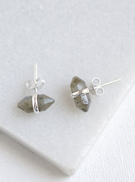 Mini Quartz Crystal Stud Earrings