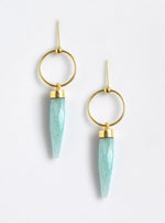 Drop Quartz Point Earrings