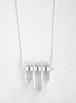 Triple Prismatic Crystal Necklace