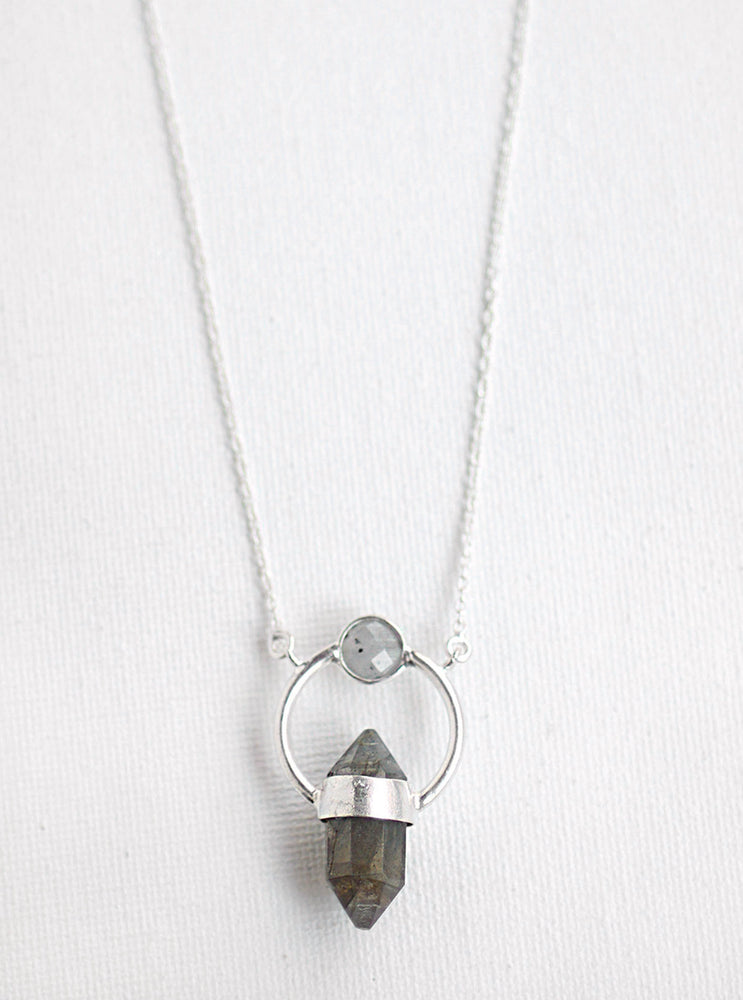 Single Prismastic Crystal Necklace