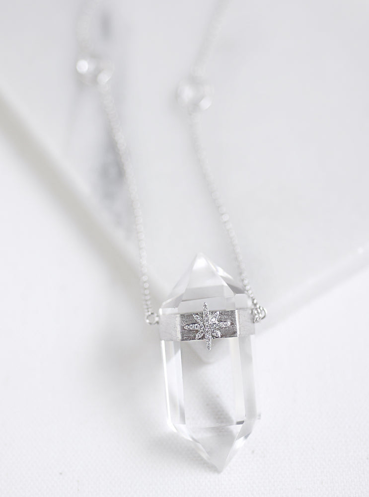 Prismatic Quartz Starburst Necklace