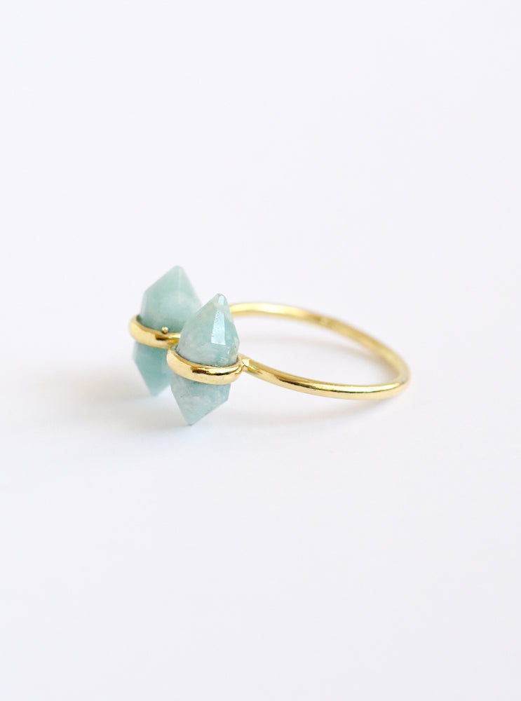Double Mini Gemstone Ring