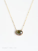 18K Gold Tourmaline Necklace with Diamond