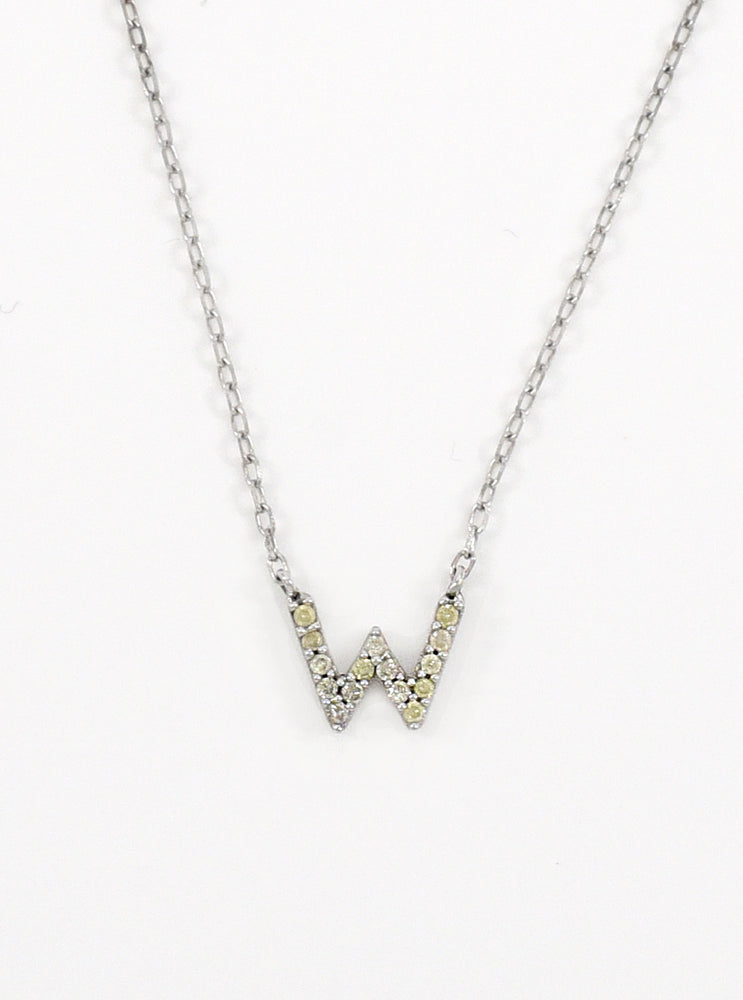 18k Gold Initial with Diamond Necklace