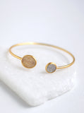 Shining Druzy Double Bangle