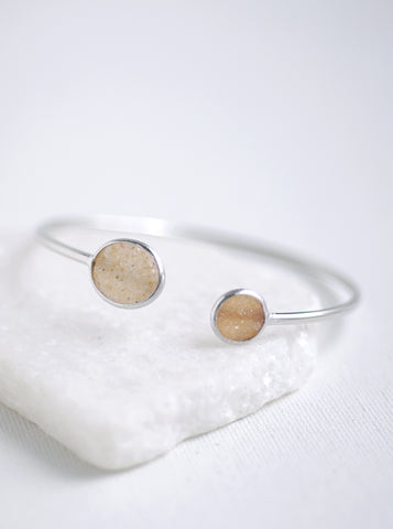 Shining Druzy Double Bangle *