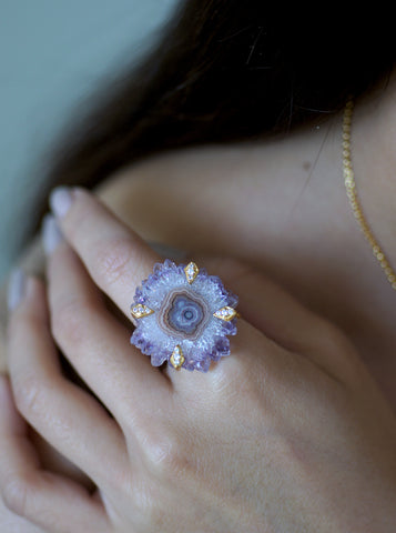 Related product : Amethyst Stalactite Flower Ring*