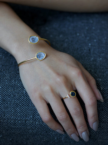 Related product : Diamond Double Geode Bangle