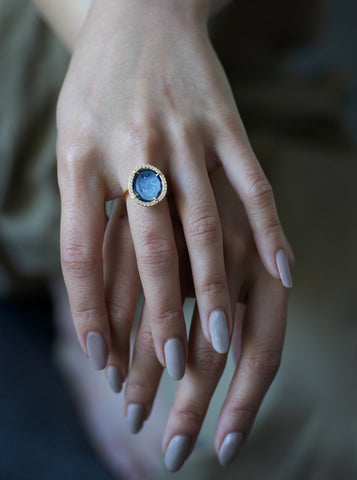 Related product : CZ Geode Druzy Sparkle Ring