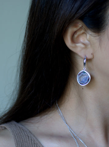 Related product : Geode Hoop Earrings """"
