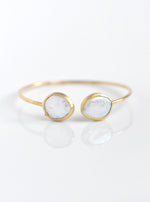 Mother of Pearl and Diamond Double Bangle
