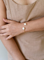 Hand Crafted Double Baroque Pearl Bangle
